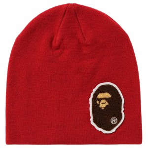 A Bathing Ape Big Ape Head Knit Cap (red)