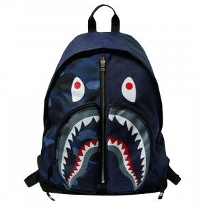 A Bathing Ape Color Camo Shark Day Pack (navy)