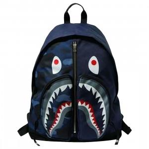 A Bathing Ape Color Camo Shark Day Pack (navy)