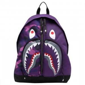 A Bathing Ape Color Camo Shark Day Pack (purple)