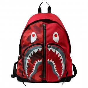 A Bathing Ape Color Camo Shark Day Pack (red)