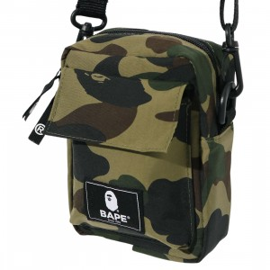 A Bathing Ape 1st Camo Mini Shoulder Bag (green)