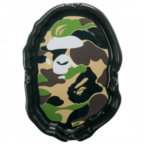 A Bathing Ape ABC Camo Ape Head Ashtray (green)