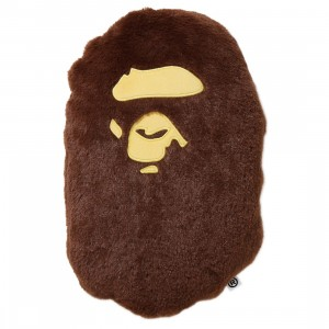 A Bathing Ape Ape Head Cushion (brown)