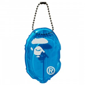 A Bathing Ape Ape Head Clear Coin Case (blue)
