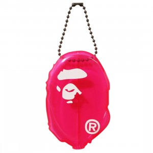 A Bathing Ape Ape Head Clear Coin Case (pink)