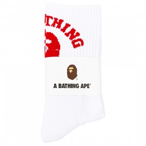 A Bathing Ape Men College Socks (red)