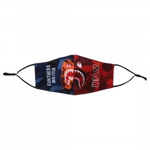 A Bathing Ape Color Camo Tiger Shark Half Mask (navy)