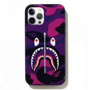 A Bathing Ape Color Camo Shark iPhone 12 / 12 Pro Case (purple)