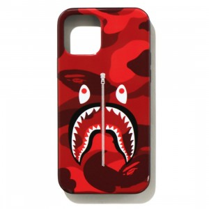 A Bathing Ape Color Camo Shark iPhone 12 / 12 Pro Case (red)