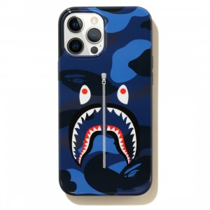 A Bathing Ape Color Camo Shark iPhone 12 Pro Max Case (navy)