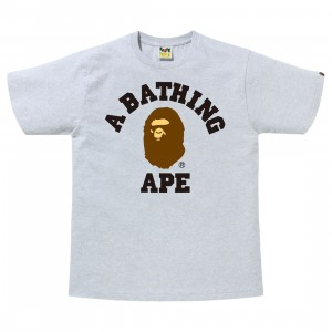 A Bathing Ape Men College Tee (gray)