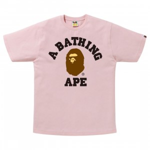 A Bathing Ape Men College Tee (pink)