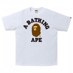 A Bathing Ape Men College Tee (white)