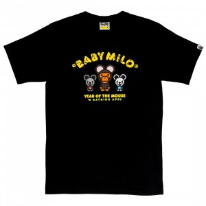 A Bathing Ape Men Year Of The Mouse Baby Milo Tee (black)
