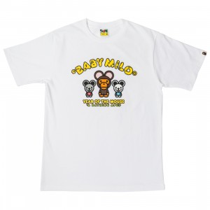 A Bathing Ape Men Year Of The Mouse Baby Milo Tee (white)