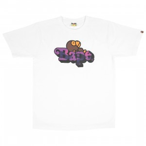A Bathing Ape Men Color Camo Milo On Bape Tee (white / purple)