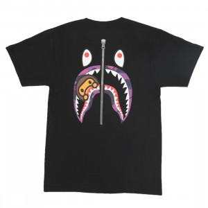 A Bathing Ape Men Color Camo WGM Milo Shark Tee (black / purple)