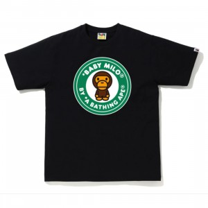 A Bathing Ape Men Colors Milo Busy Works Tee (black / green)