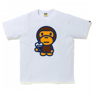 A Bathing Ape Men Color Camo Milo Juice Summer Tee (white)