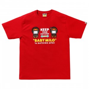 A Bathing Ape Men Social Distance Baby Milo #1 Tee (red)