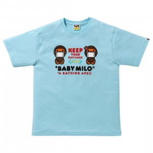A Bathing Ape Men Social Distance Baby Milo #1 Tee (blue / sax)