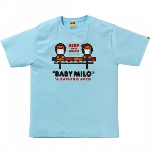 A Bathing Ape Men Social Distance Baby Milo #2 Tee (blue / sax)