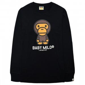A Bathing Ape Men Baby Milo Long Sleeve Tee (black)