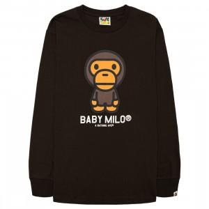 A Bathing Ape Men Baby Milo Long Sleeve Tee (brown)