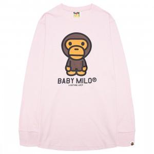A Bathing Ape Men Baby Milo Long Sleeve Tee (pink)