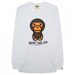A Bathing Ape Men Baby Milo Long Sleeve Tee (white)
