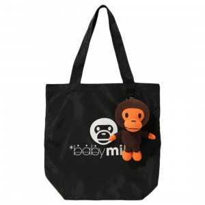 A Bathing Ape Milo Packable Tote Bag (black)