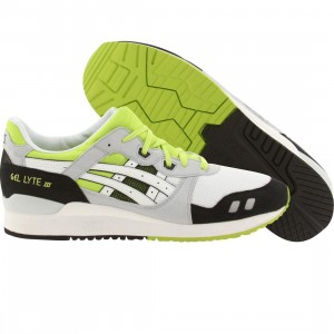 Asics Tiger Men Gel-Lyte III (white / black / lime)
