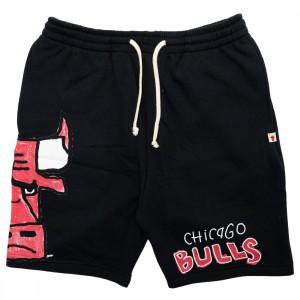 After School Special x NBA Men Bulls Doodle Shorts (black)
