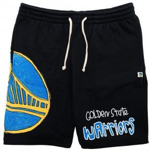 After School Special x NBA Men Warriors Doodle Shorts (black)