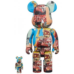 PREORDER - Medicom Jean-Michel Basquiat #6 100% 400% Bearbrick Figure Set (multi)