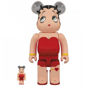 PREORDER - Medicom Betty Boop 100% 400% Bearbrick Figure Set (red)