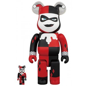 PREORDER - Medicom DC Batman The Animated Series Harley Quinn 100% 400% Bearbrick Figure Set (red)