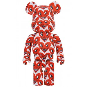 PREORDER - Medicom Keith Haring #6 1000% Bearbrick Figure (red)