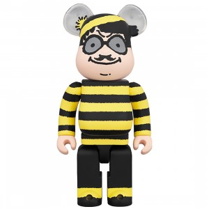 PREORDER - Medicom Where's Wally? Odlaw 400% Bearbrick Figure (yellow)