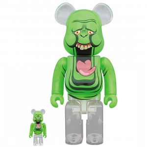 PREORDER - Medicom Ghostbusters Slimer Green Ghost 100% 400% Bearbrick Figure Set (green)