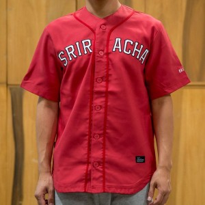 BAIT x Sriracha Men Baseball Jersey (red)