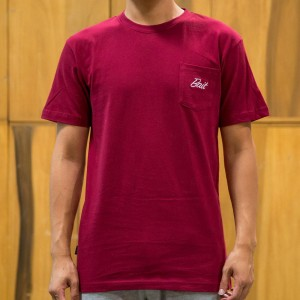 BAIT Men Core Pocket Tee (burgundy)