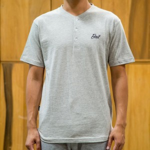 BAIT Men Core Henley Tee (gray)