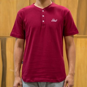 BAIT Men Core Henley Tee (burgundy)