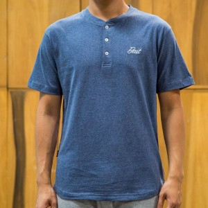BAIT Men Core Henley Tee (blue)