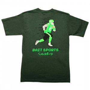 BAIT Men 8 Bit Football Tee (green)