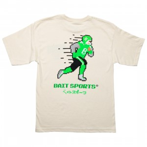 BAIT Men 8 Bit Football Tee (white / natural)