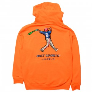 BAIT Men 8 BIT Baseball Hoody (orange / safety)