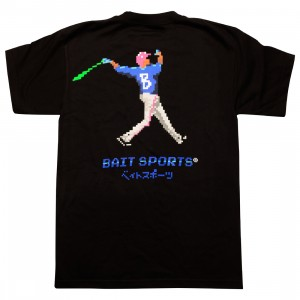 BAIT Men 8 BIT Baseball Tee (black)